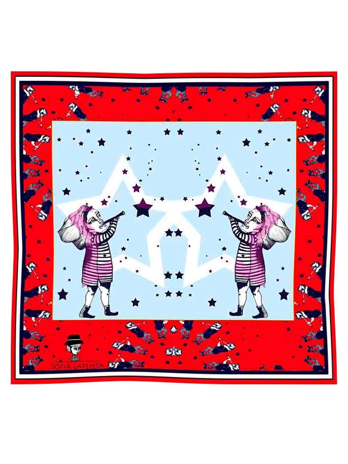Pañuelo Estrellada Rojo (réctangular) 1