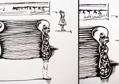 Ilustraciones Serie B&N 9
