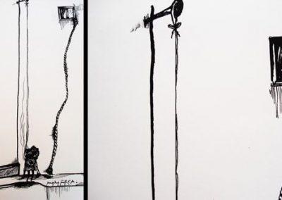 Ilustraciones Serie B&N 13
