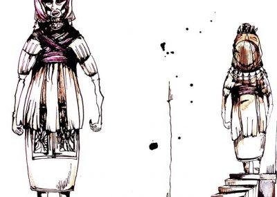 Ilustraciones para Diseño de Vestuario Teatral