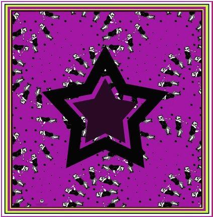 2 Pañuelos Chicos + Caja de Autor: Pañuelo Estrella Magenta + Estrellada Natural 2