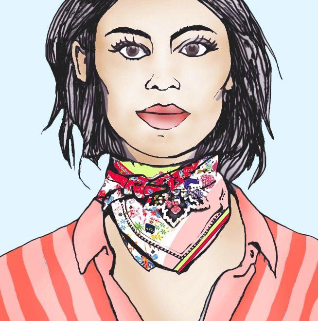 Luciana Bacci: El pañuelo es un accesorio altamente versátil. 1