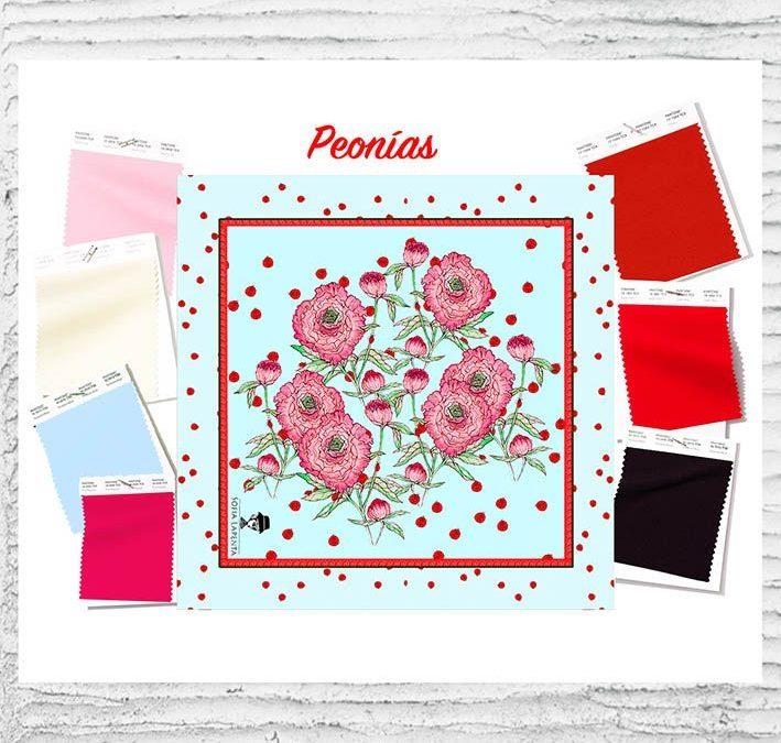 Diseño Textil Peonías