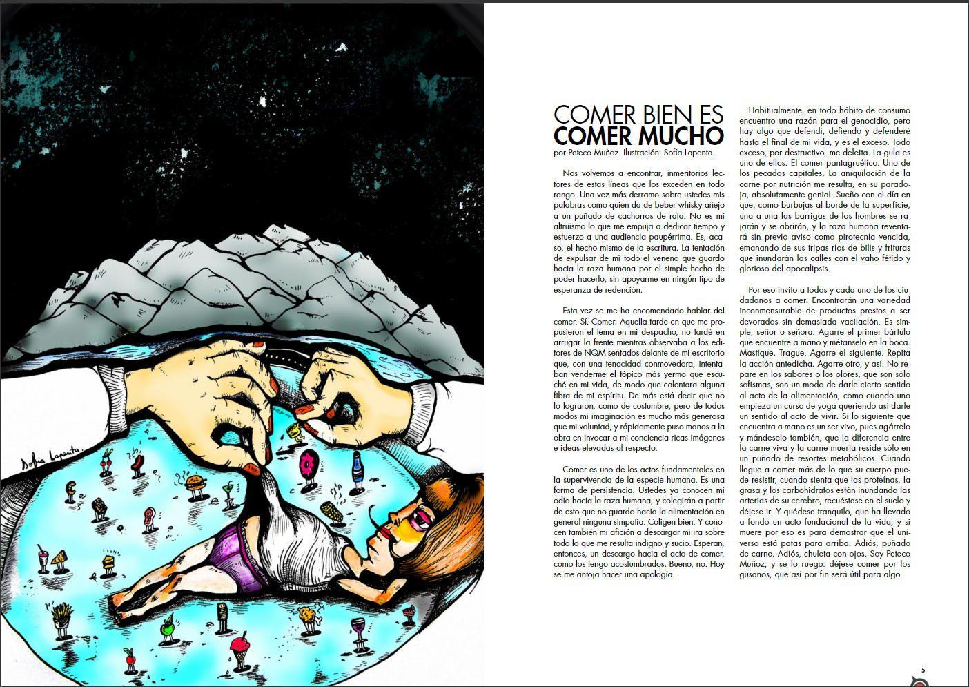 Revista de Arte NQM. Serie Ilustraciones 1