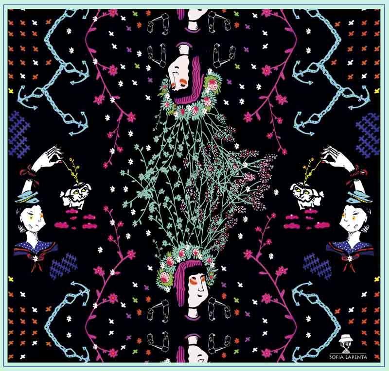 2 Pañuelos Chicos + Caja de Autor: Sueños de Mar + Fellini Color 2