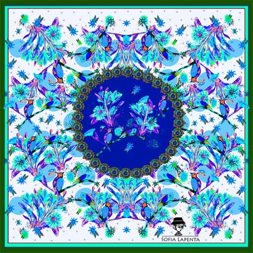 Pañuelo Trópica Azul 2
