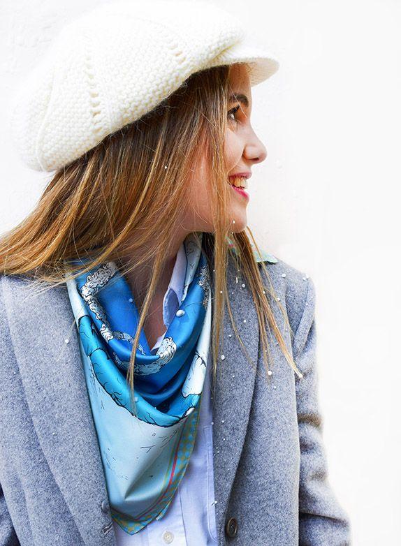 Pañuelo Pista de Nieve Azul 5
