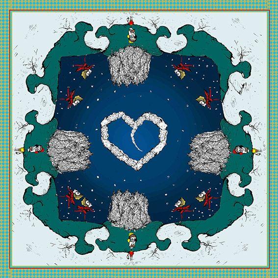 Pañuelo Pista de Nieve Azul 11