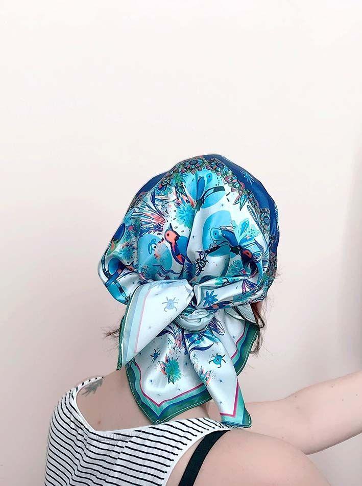 Pañuelo Trópica Azul 3