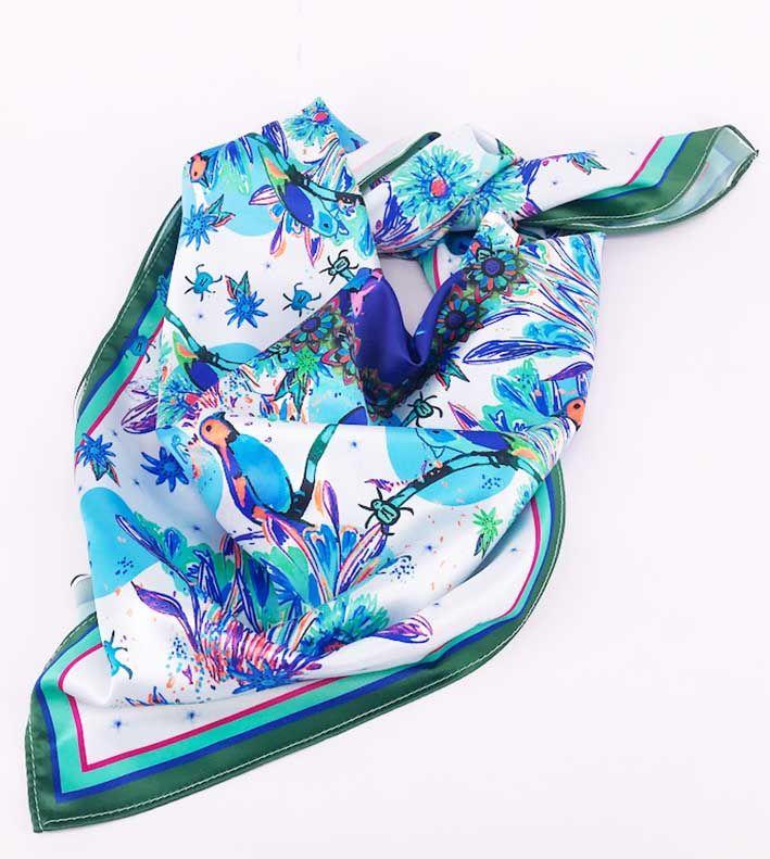 Pañuelo Trópica Azul 4