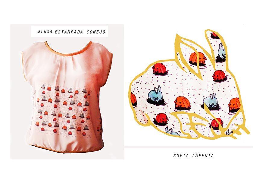 Diseño Textil Conejos 2