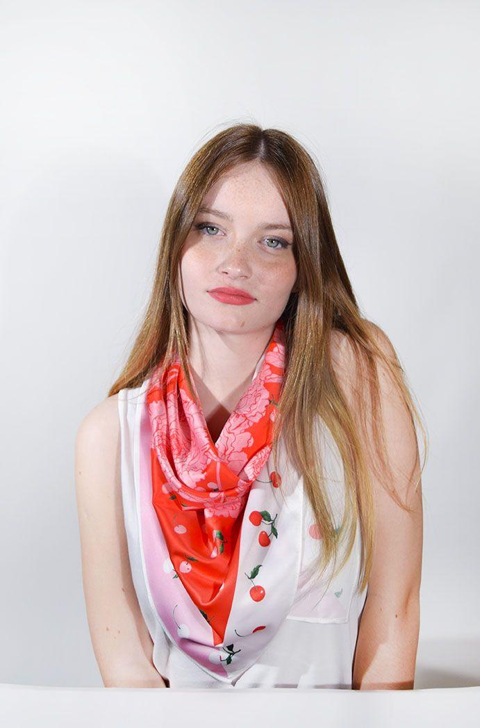 Pañuelo Cerezas Roja