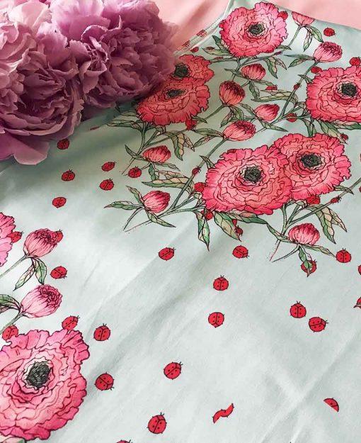 Estampado Serie Peonias Rosa | Sofia Lapenta