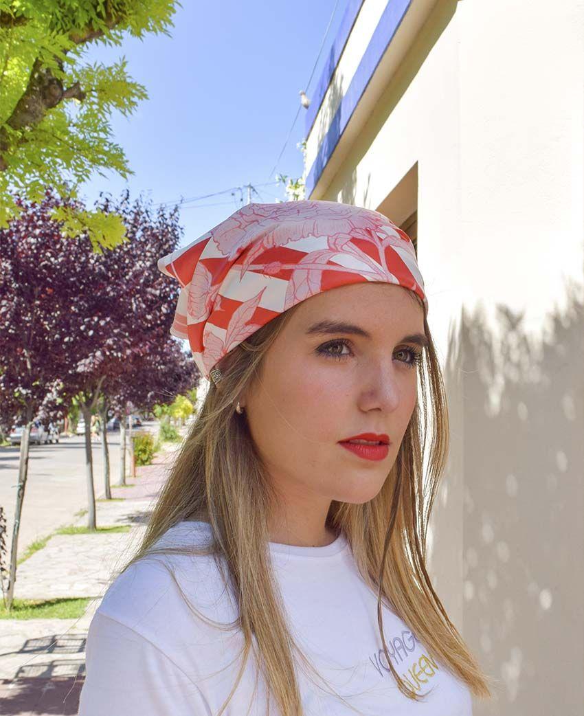 Pañuelo Serie Peonías Rayada | Sofia Lapenta