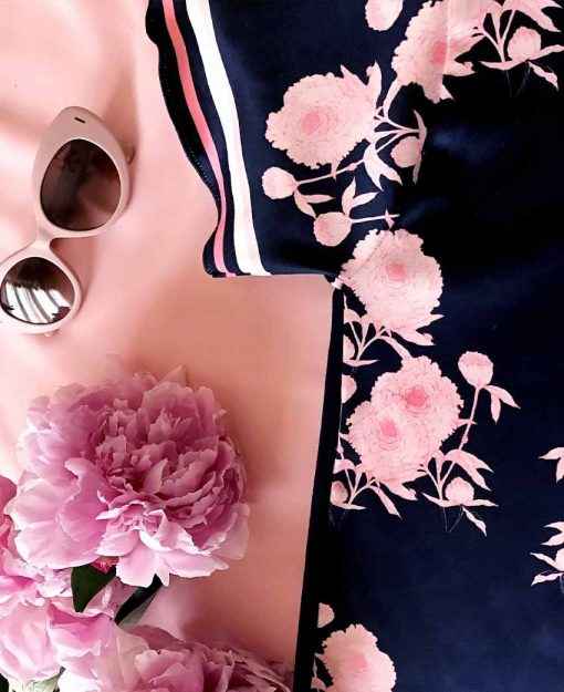 Estampado Serie Peonias color Azul | Sofia Lapenta