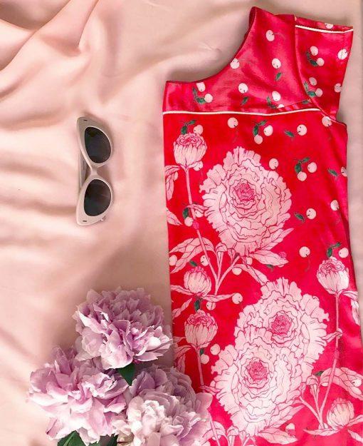 Estampado Serie Peonias color Rojo | Sofia Lapenta