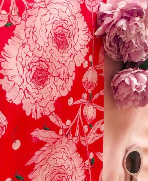 Estampado Serie Peonías color Rojo | Sofia Lapenta