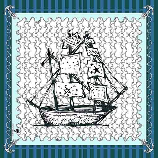 2 Pañuelos Chicos + Caja de Autor: Pañuelo Barcos verde + Pañuelo Barcos Clásico 2