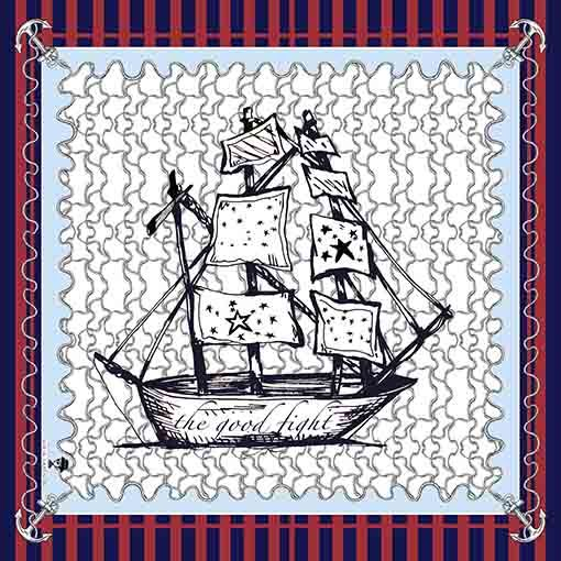 2 Pañuelos Chicos + Caja de Autor: Pañuelo Barcos Rojo + Barcos Classic 3