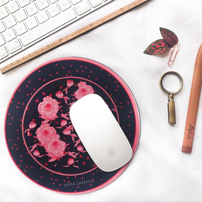 Mouse Pad Peonías 1