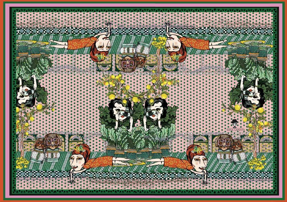 Pañuelo Grande Marroqui Serie Marruecos de Sofia Lapenta