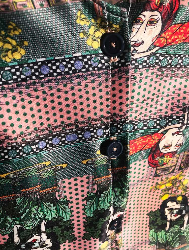 Blusa Marroqui Rosada Serie Marruecos de Sofia Lapenta
