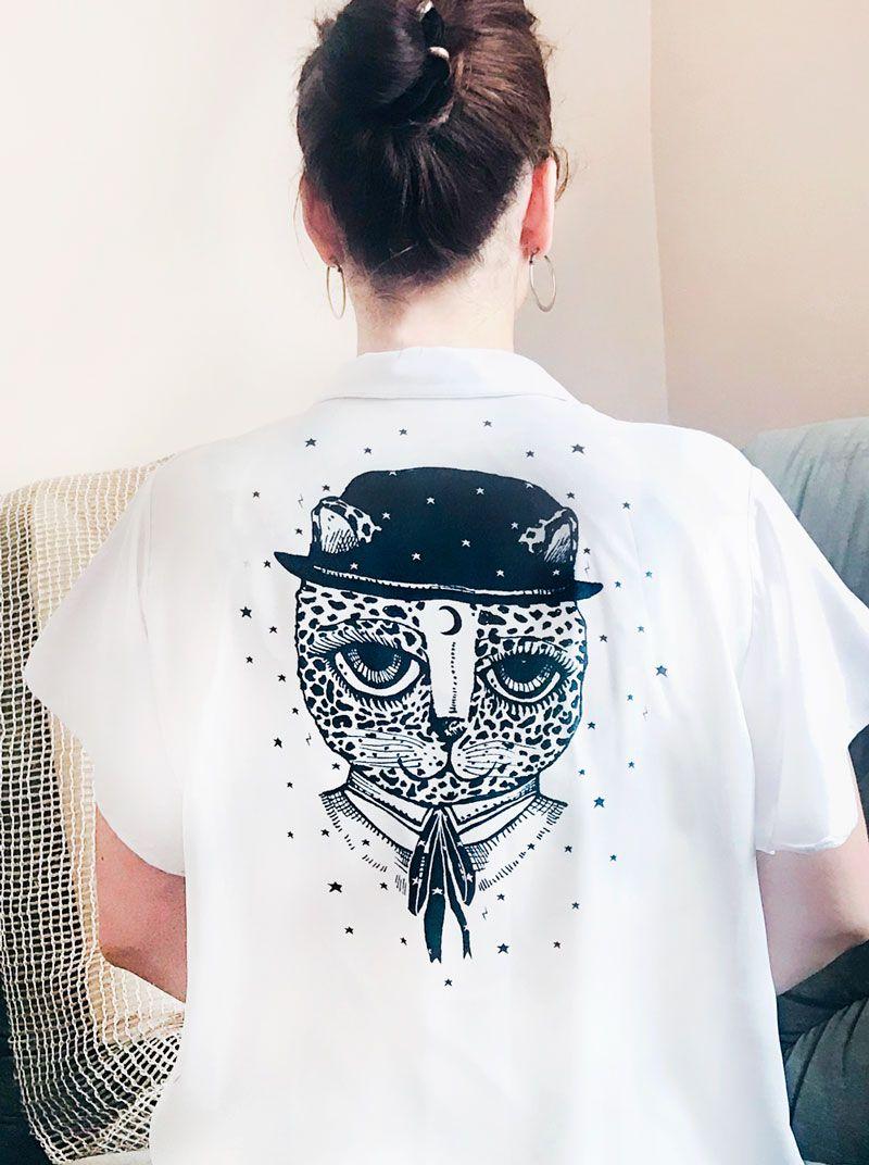 Camisa manga corta Serie Guepard de Sofia Lapenta