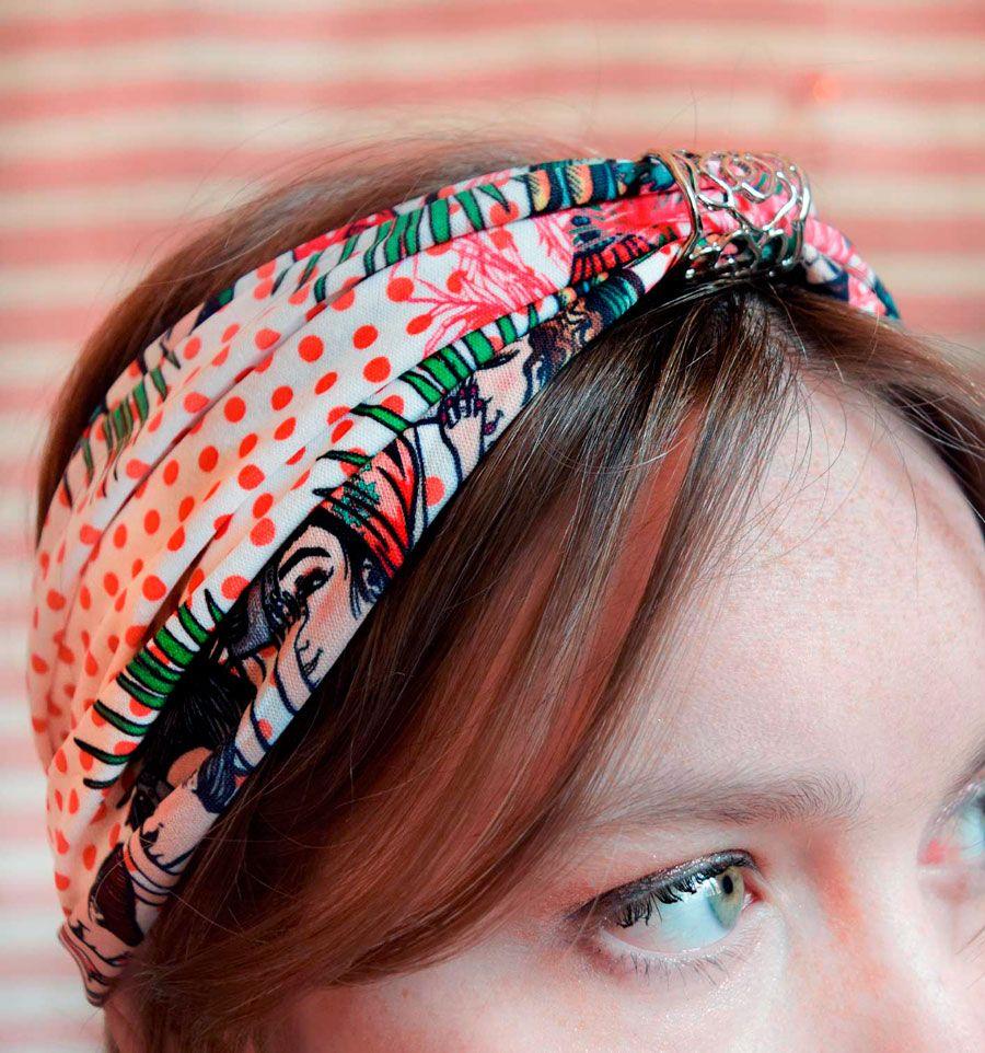 Turbante Turista negro Serie Marruecos de Sofia Lapenta