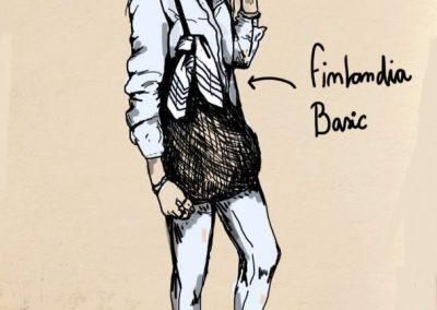 Ilustración Pañuelo FInlandia Basic Sofia Lapenta