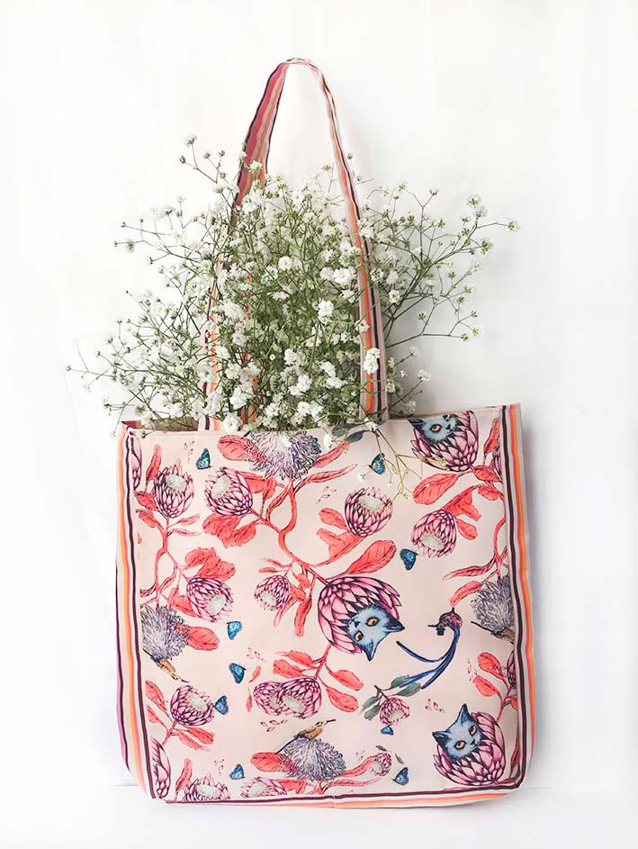 Tote Bag Protea Crema 1