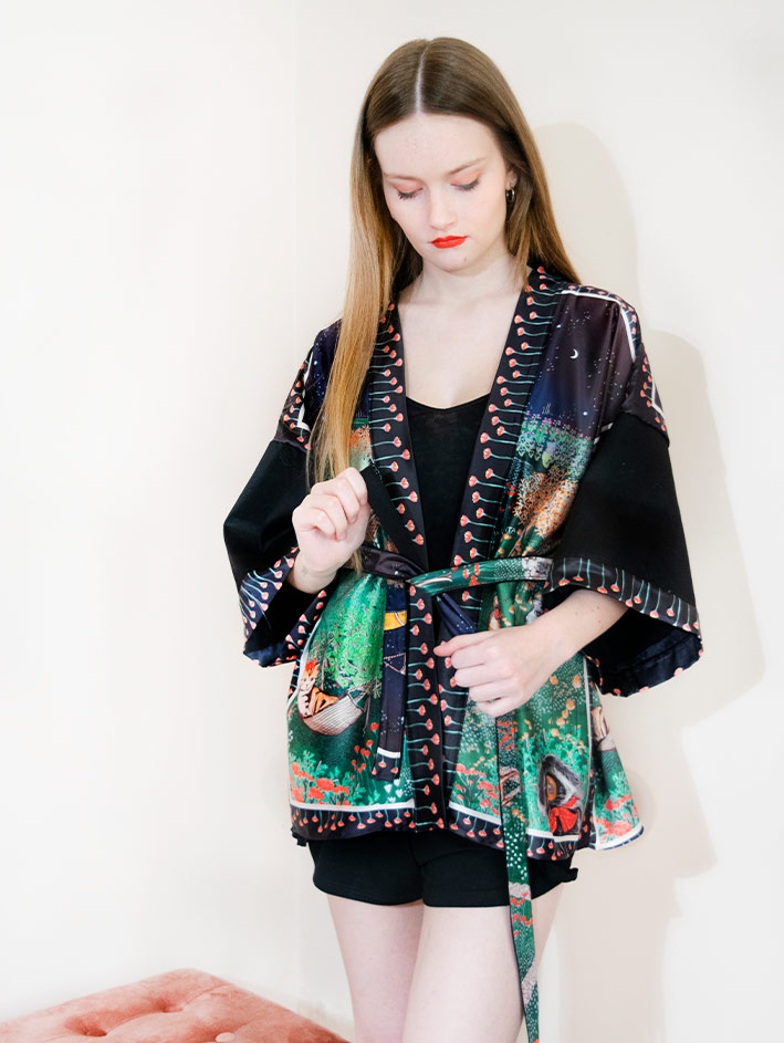 Kimono Bata corta Animal Lover 7