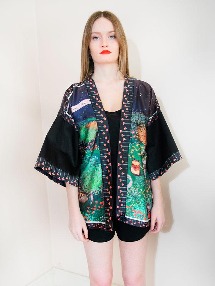 Kimono Bata corta Animal Lover 6