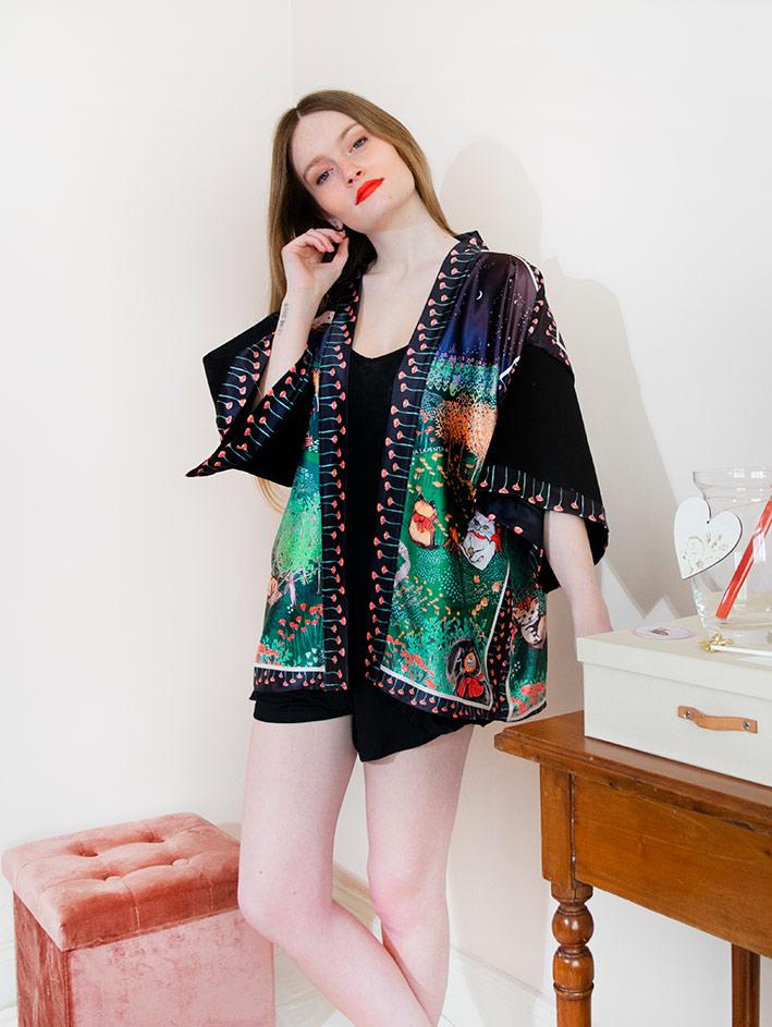 Kimono Bata corta Animal Lover 5