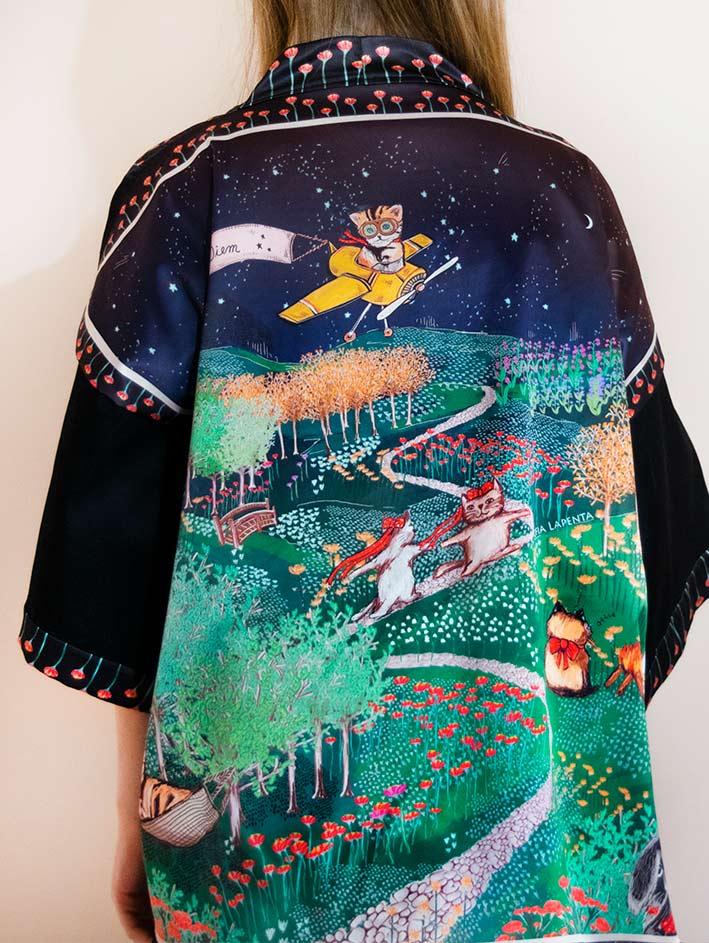Kimono Bata corta Animal Lover 3