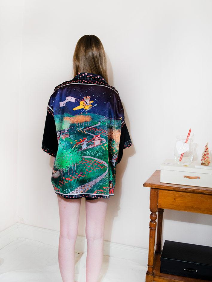 Kimono Bata corta Animal Lover 2