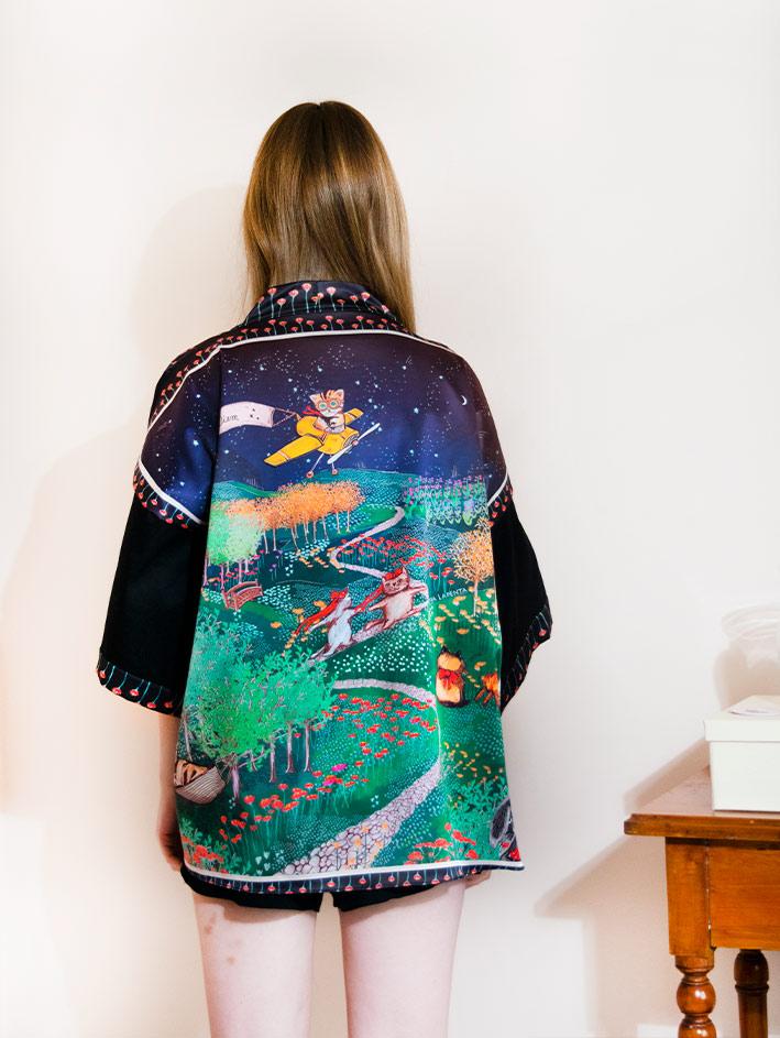 Kimono Bata corta Animal Lover 1
