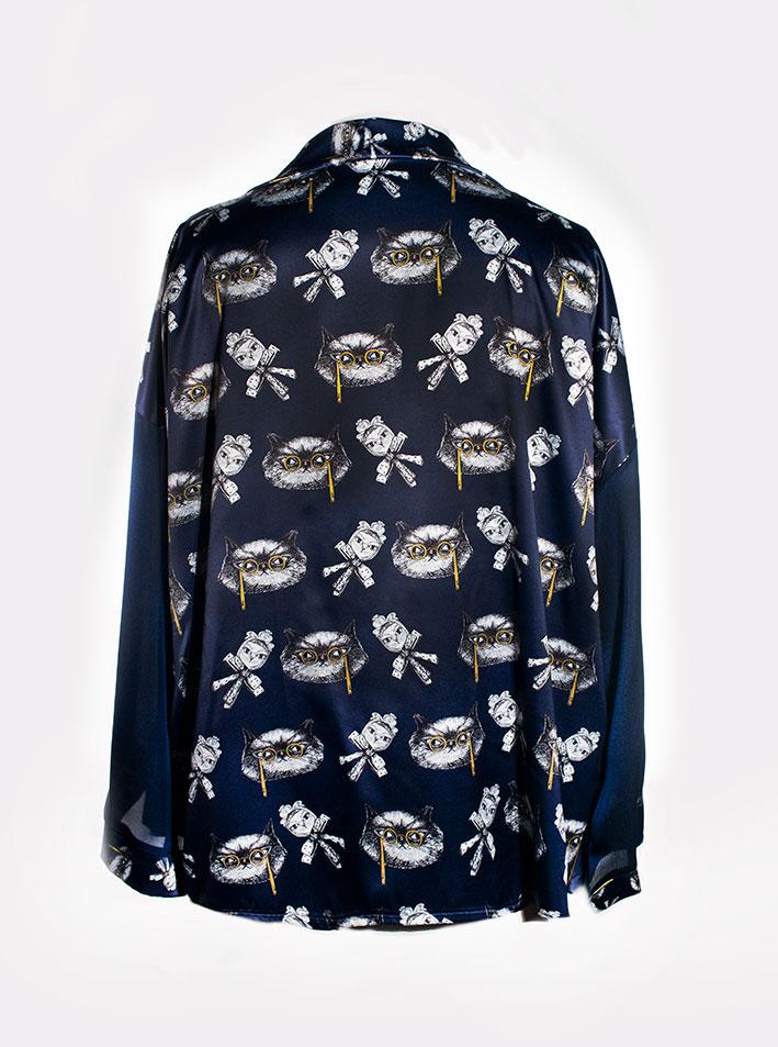 Kimono Bata Impertinentes Azul 8