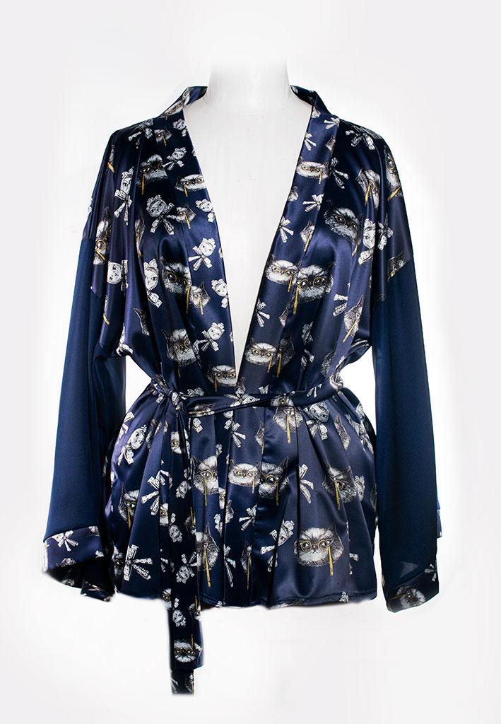 Kimono Bata Impertinentes Azul 2