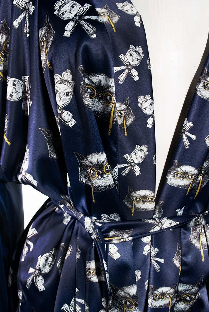 Kimono Bata Impertinentes Azul 7