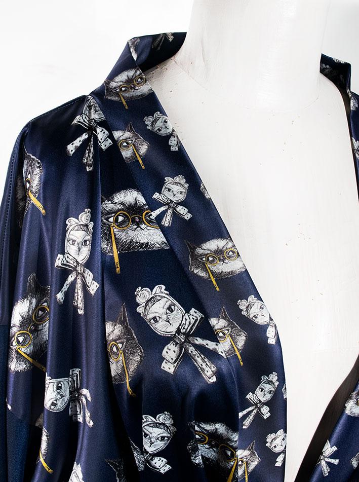 Kimono Bata Impertinentes Azul 6