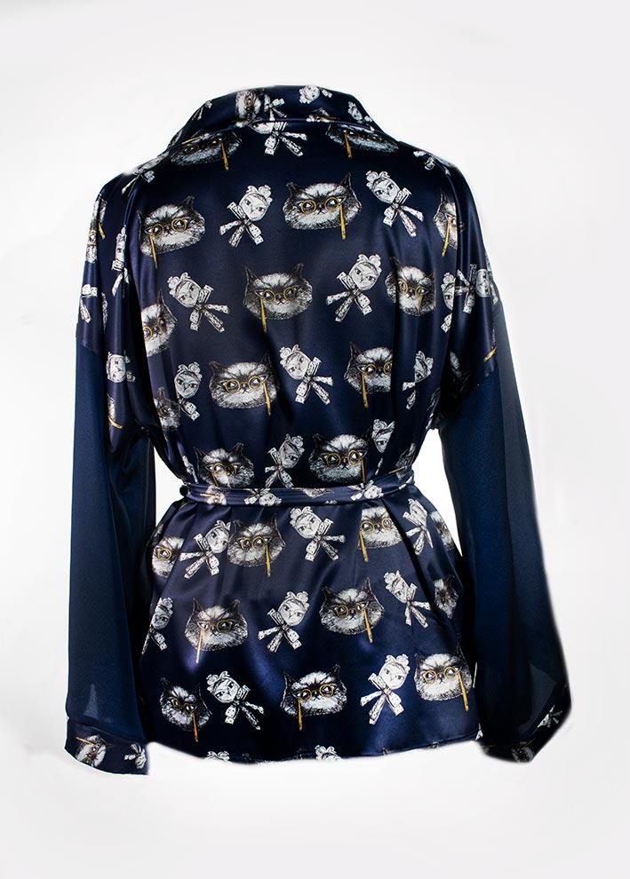 Kimono Bata Impertinentes Azul 4