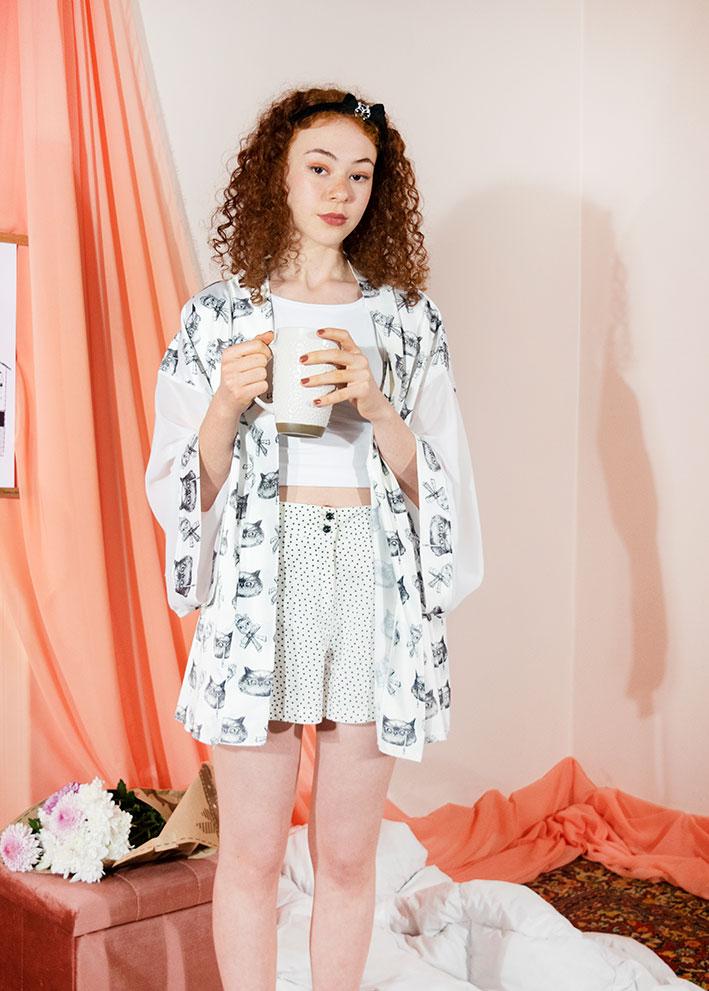 Kimono Bata Impertinentes Blanca 3