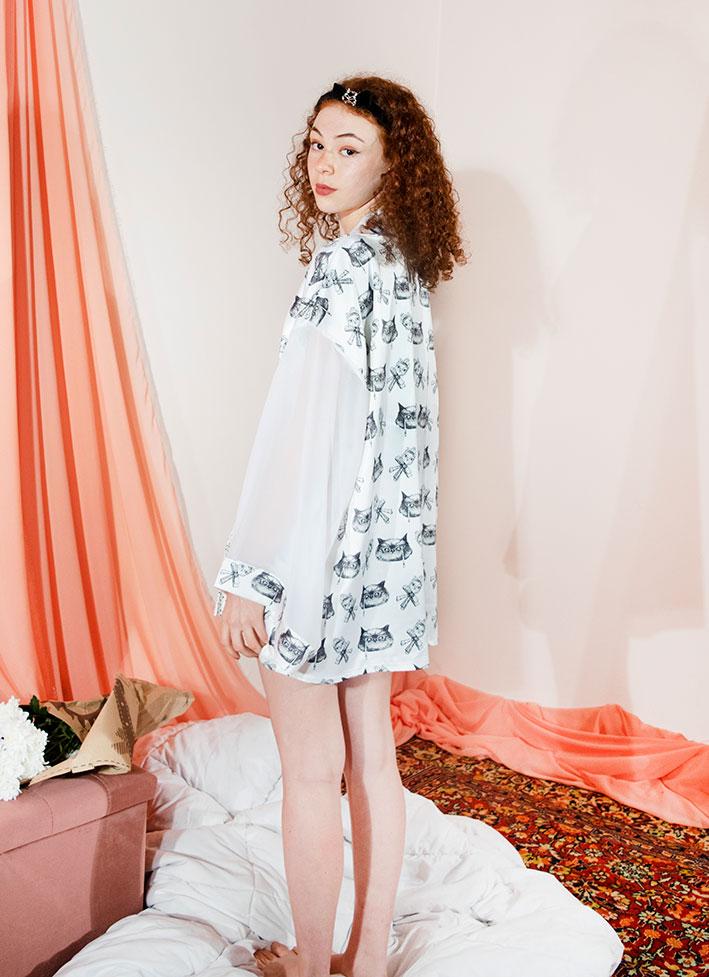 Kimono Bata Impertinentes Blanca 6