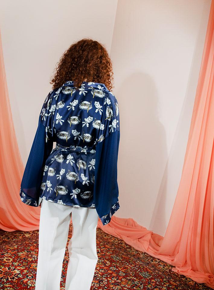 Kimono Bata Impertinentes Azul 5