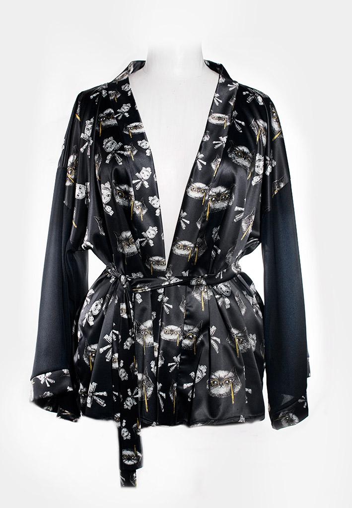 Kimono Bata Impertinentes Negro 2